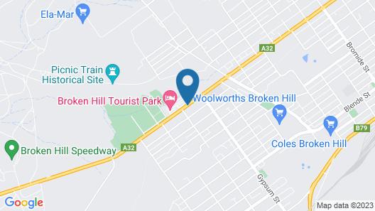Broken Hill Tourist Park Map