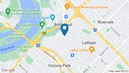 The Burswood Townhouse Map