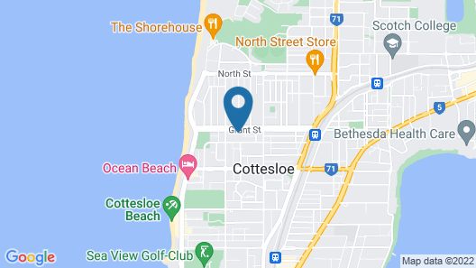 Cottesloe Beach Deluxe Apartment Map