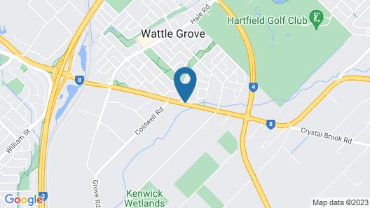 Wattle Grove Motel Map