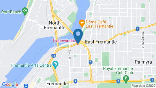 Tradewinds Hotel Map