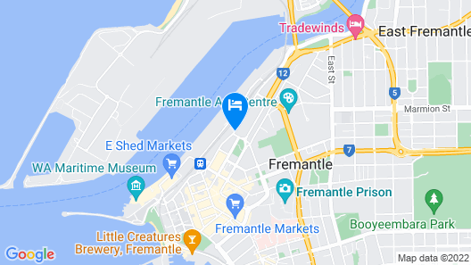 Australia Hotel Fremantle Map