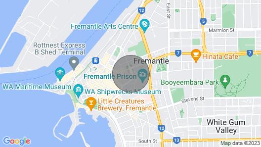 Heritage Cottage on Parry in Fremantle Map