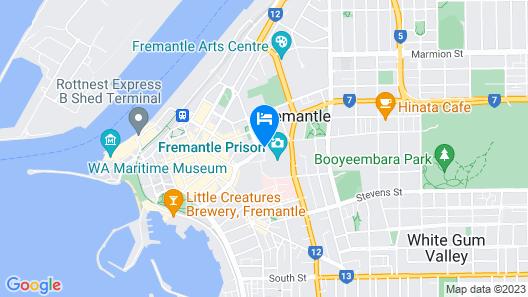 Fremantle Prison YHA Map
