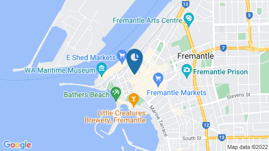 Fremantle Hostel Map