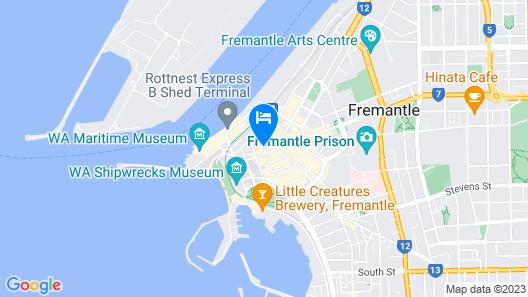 Fremantle Hostel Map