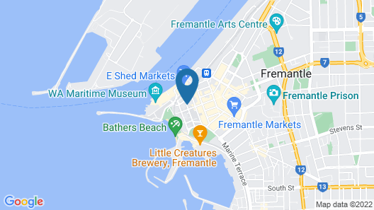 Fremantle Bed and Breakfast Map