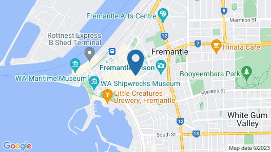 Central Heritage Building In Fremantle Sleeps 6 Map