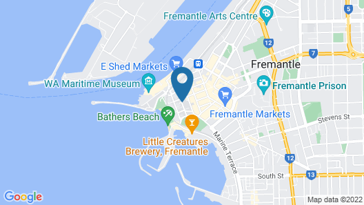 The Architects Warehouse Apartment on Mouat Fremantle Map