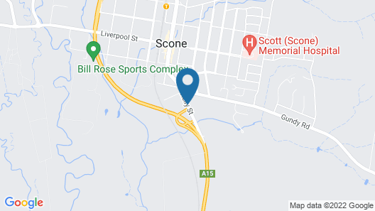 Isis Motel Scone Map