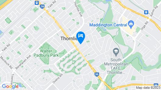 Perth City Motel Map