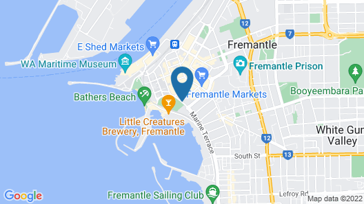 Esplanade Hotel Fremantle - by Rydges Map