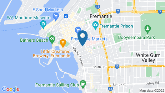 Arundels Boutique & Fremantle Holiday Accommodations Map