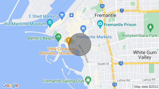 Shared Home Near The Ocean In The Heart Of Fremantle Map