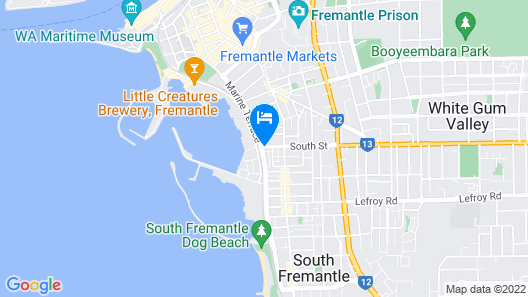 Platinum Suites Fremantle Map