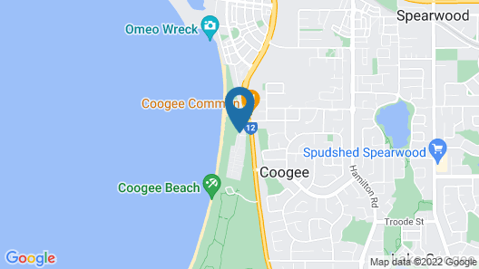 Discovery Parks - Coogee Beach Map