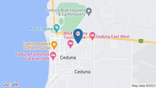 A1 Cabins Ceduna Map
