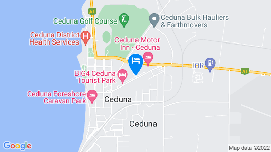 A1 Cabins Ceduna Map