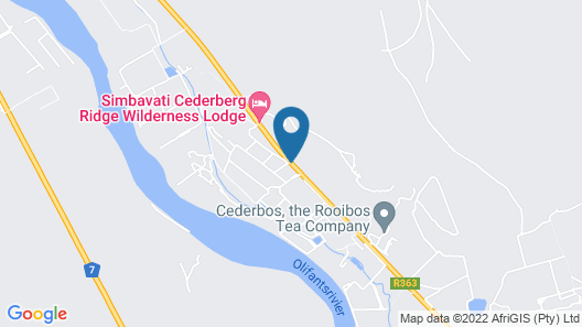 Cederberg Ridge Wilderness Lodge Map