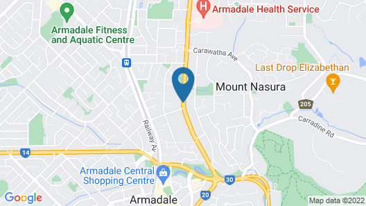 Armadale Cottage Bed & Breakfast Map