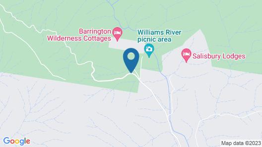 Barrington Wilderness Cedar Lodge Accommodation Map