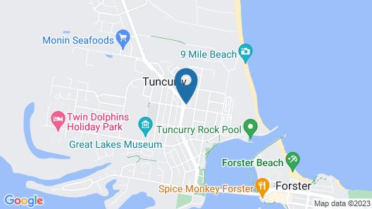 Tuncurry Beach Motel Map