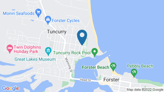 Reflections Holiday Parks Tuncurry Map