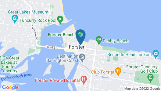 Sails Luxury Apartments, Forster Map