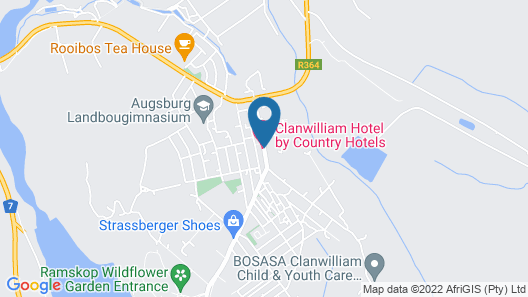 Clanwilliam Hotel by Country Hotels Map