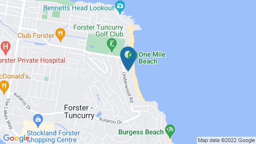 Beach House at One Mile Map