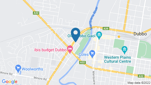 NRMA Dubbo Holiday Park Map