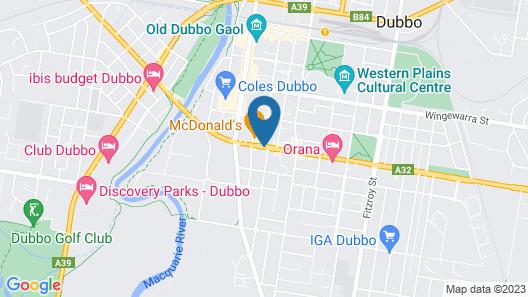 The Palms Motel Dubbo Map