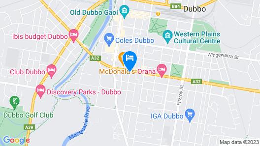 Australian Heritage Motor Inn Map