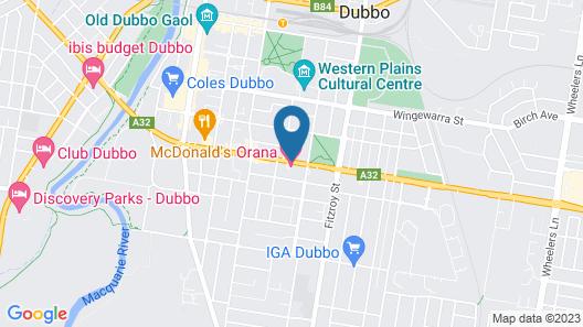 Orana Motel Dubbo Map