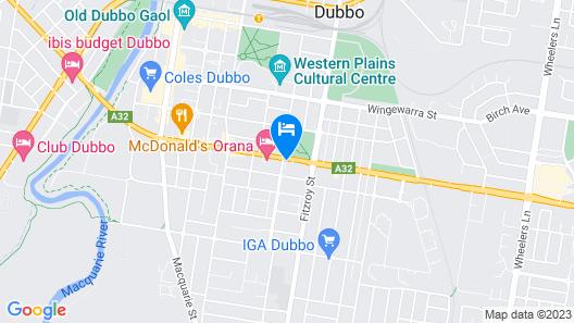 Bluegum Dubbo Motel Map