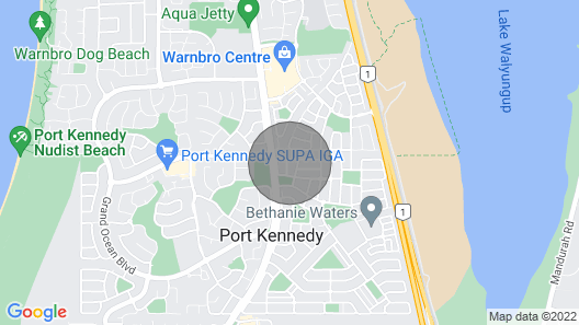 Annie s Dream, Luxury Holiday Home, Port Kennedy, WA Map