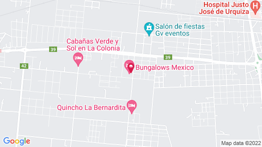 Bungalows Mexico Map