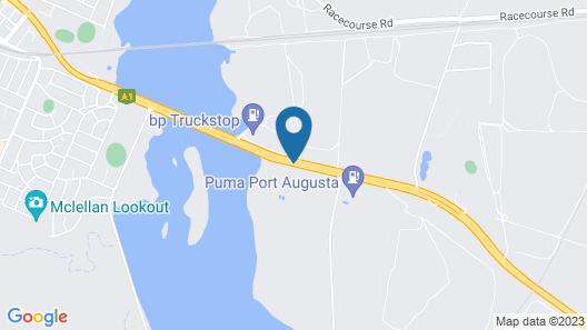 Augusta Budget Motel Map