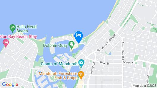 Seashells Mandurah Map