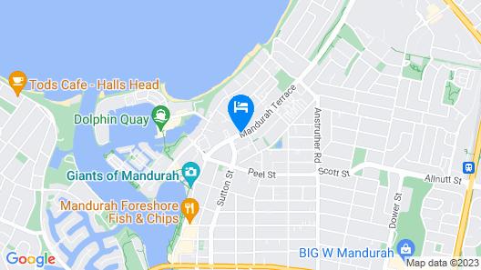 Mandurah Motel and Apartments Map