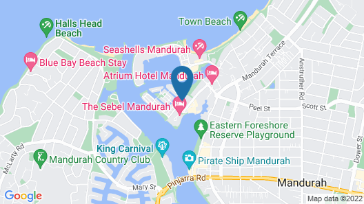 Mandurah Ocean Marina Chalets Map