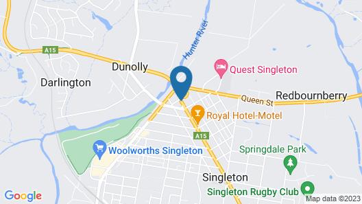 Benjamin Singleton Motel Map