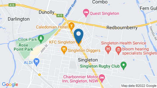 Country Motor Inn Singleton Map