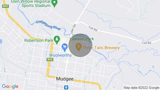 Roselle Cottage - Central Mudgee Map