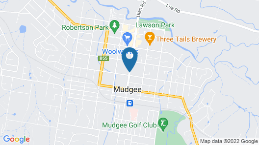 Winning Post Motor Inn Mudgee Map