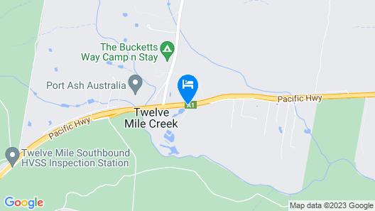 Australian Motor Homes Tourist Park Map