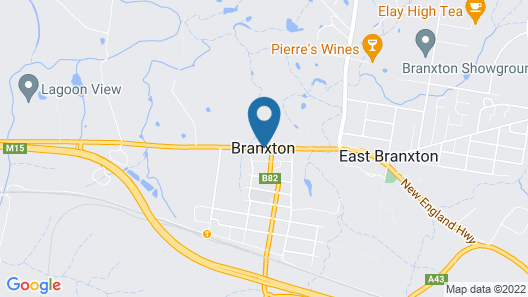 Branxton House Motel, Hunter Valley Map
