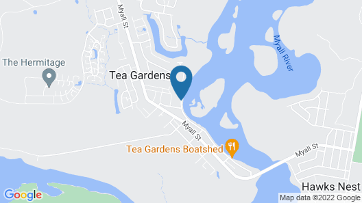 Boathouse Resort Tea Gardens Map