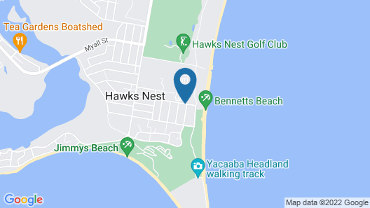 Reflections Holiday Parks Hawks Nest Map