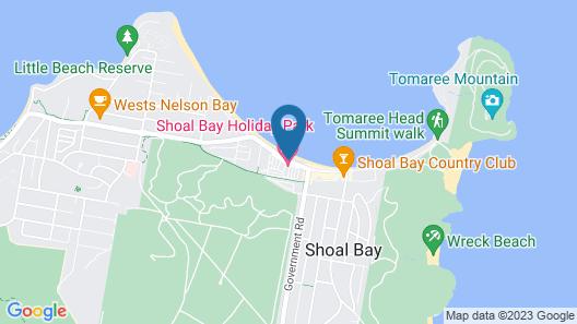Shoal Bay Holiday Park Map